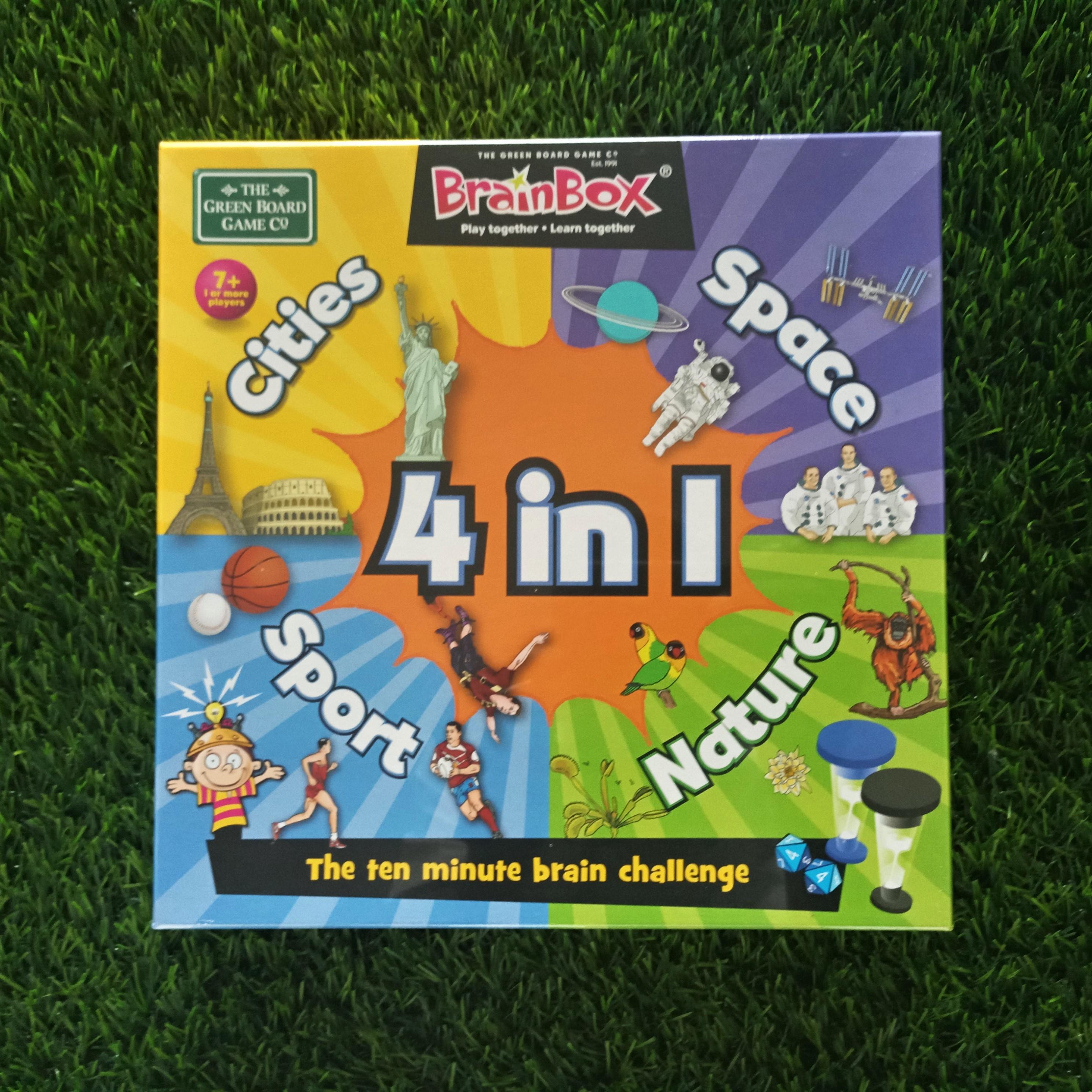 The Green Board Game Brain box 4 in 1